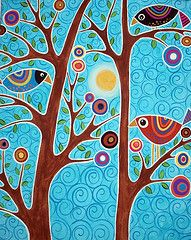 folk artist Karla Gerard - great inspiration for school projects!