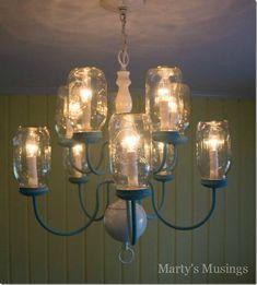 Mason Jar Chandelier - Mason Jar Crafts Love