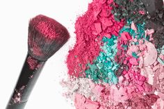 Homemade Cosmetics Recipes for DIY Loose Pink Blush Powder and Mineral Eye Shadow Powder in Pigment / Color of Choice