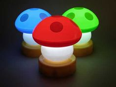 1up mushroom lamps... The boys room is done in Mario but we need these lamps