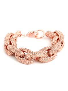 our rose pave links bracelet