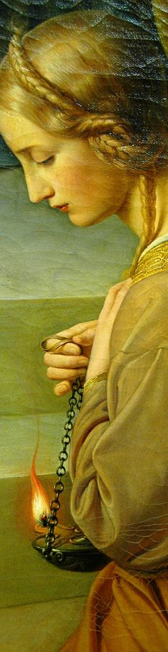 The Parable of the Wise and Foolish Virgins details 1838-42 Friedrich Wilhelm Schadow - Higher at http://upload.wikimedia.org/wikipedia/commons/5/50/Schadow%2CFW-Die_klugen_und_t%C3%B6richten_Jungfrauen-2.JPG (Thx Marie-Louise)