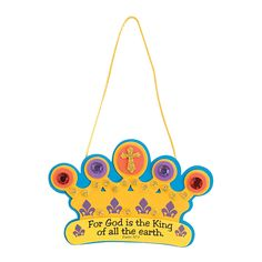 """""""God Is The King Of All"""" Crown Craft Kit - OrientalTrading.com"""