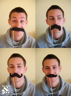 DIY Photo Booth Moustaches