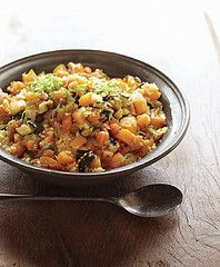Moroccan couscous (vegan). We LOVE this meal!