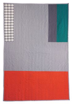Beautiful, simple quilt back from Hopewell textiles.
