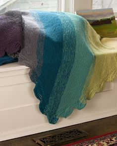This is gorgeous. You don't see a lot of patterns for knit afghans!