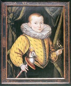 Portrait of a boy, maybe son of Bartholomaeus Schachmann, mayor of Gdańsk by Anton Möller.  1590's based on size and shape of ruff.