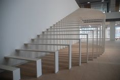 This is the entrance monument for Fujitec escalator manufacturing company in Japan.  Takayuki Tomoi escalera, interior, stairs, staircas design, inspir, architecture, takayuki tomoi, homes, entrance