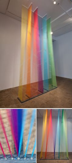 HEY LOOK: INSPIRED BY RAINBOW COLORED THREAD INSTALLATIONS