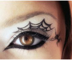 Liquid Eyeliner Halloween Spider Web Eyes.