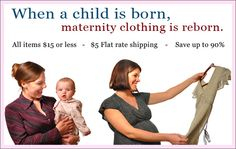 Discount Maternity Clothes | Used Maternity Clothes | Cheap Maternity Clothing - RebornMaternity.com...seems like it might be handy someday