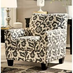 Levon Floral Accent Chair--American Furniture warehouse
