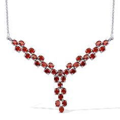 Liquidation Channel | Jalisco Fire Opal Necklace in Platinum Overlay Sterling Silver (Nickel Free)
