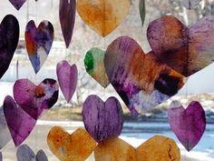 valentine crafts, paper hearts, melted crayon art, melted crayons, valentine decorations, craft ideas, iron, crafty kids, wax paper