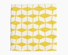 Fabric pattern yellow Mouvant