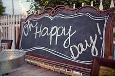 blackboard sign, chalkboards, chalkboard inspir, chalkboard signs, happy days