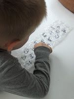 Bubble Wrap Popping Letters - great for learning words, shapes & colors!!
