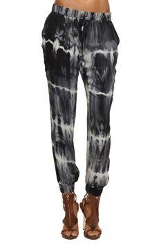 Tie Dye Slim Shady Pant $395  Shop now: http://www.hautehippie.com/webstore/shop/hh/bottoms/tie-dye-slim-shady-pant.html
