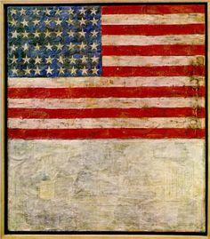 Flag Above White - Jasper Johns