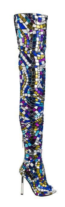 Tom Ford SS2014.Mosaic Thigh High Boots - AMAZING
