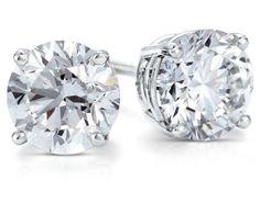 Diamond Stud Earrings in Platinum #BlueNile