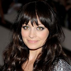 Find Your Perfect Bangs: Long, eye-grazing bangs that are tapered on the sides add a soft element to square face shapes, like #NicoleRichie's. http://www.instyle.com/instyle/package/general/photos/0,,20276967_20364405_20761549,00.html