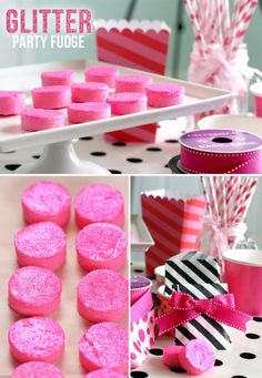 Pink Glitter Party Fudge! Fun for the kids! #stylishkidsparties