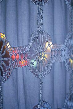 Use Sharp Crochet Hook to go through fabric easier.