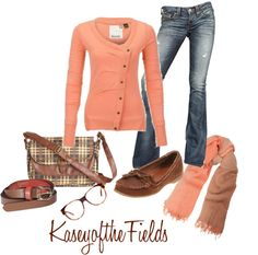 """Fall Coral"" by kaseyofthefields on Polyvore"
