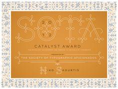 SOTA Certificate by Jessica Hische