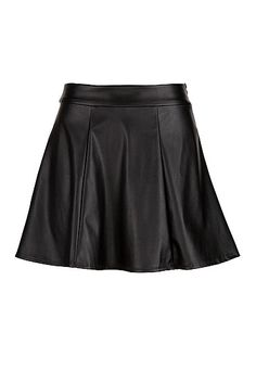 Black Faux leather skater skirt (original price, $34) available at #Maurices