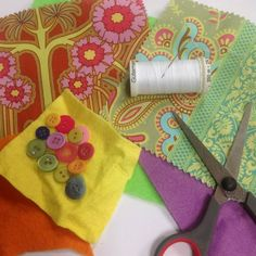 How to make yoyo fabric flowers via @Guidecentral - Visit www.guidecentr.al for more #DIY #tutorials
