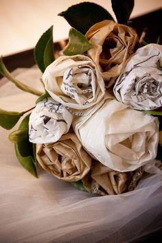 dress pattern paper bouquet