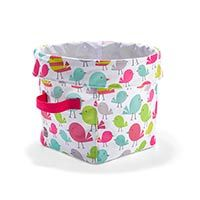 Mini Utility Bin … The Sweet Tweets print is absolutely perfect for a babies room.