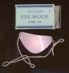 Vintage Chemist Medical Celluloid Eye Shade Shield Either Eye Circa 1930s Unused as New £8 #FollowVintage