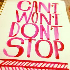 When your arm is tired of working on the computer, rest with a paintbrush. #handlettering @Madeline Fox Tompkins