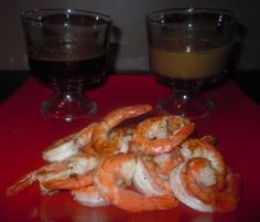 Japanese hibachi style shrimp with mustard and ginger sauce