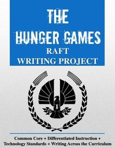 """""""The Hunger Games RAFT Writing Project"""" contains a Common Core-ready writing project for the English/Language Arts or reading classroom.This is a culminating project to end a unit of study on Suzanne Collins's popular dystopian novel. Students have five writing options to choose from. They may role play as Katniss, Peeta, Haymitch & Effie (together!), Gale, and Prim. I have also tried to write this assignment so that you are not bombarded with gushy love letters between Peeta and Katniss. :)"""