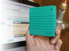 Twine lets you monitor temperature, vibration and orientation. Additional sensors detect floods, leaks, opened doors, and signals from your other home systems sensor, product, object talk, final buy, geek gifts, gift ideas, twine, internet, thing