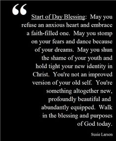 Start a Day Blessing by Susie Larson