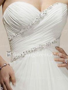 Chiffon Strapless Sweetheart A-line Corset Wedding Dress BC175 New