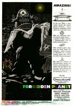 FORBIDDEN PLANET (1956) - MGM Magazine Ad