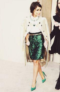 Emerald sequins