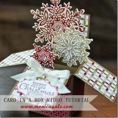Stampin' Up! card in a box video tutorial by Monica G