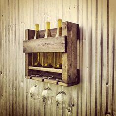 Wine Rack Wine Storage Rustic Hanging Wine Rack  3 Bottle Wine Rack Ebony Wine Rack
