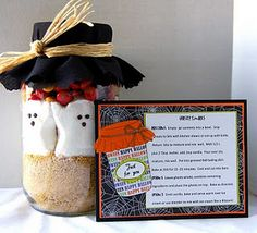 Ghostly S'mores. So cute for visiting teaching gift or neighbors.
