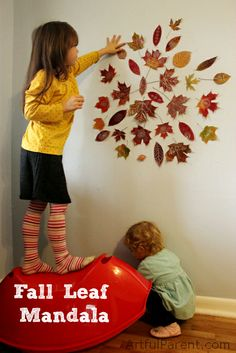 Fall Leaf Mandala - Autumn Decorations Kids Can Help Make