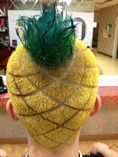 pineappl head, pineapples, laugh, stuff, funni, humor, wtf, hair, thing