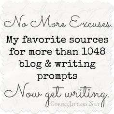 Blog and writing prompts